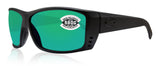 Costa Del Mar Cat Cay Blackout Frame Green Mirror 580G Polarized Mirror Lens New