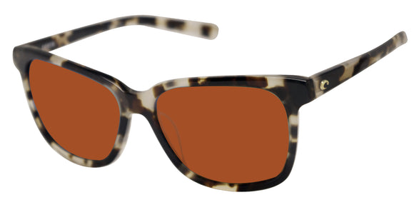Costa Del Mar May Shiny Tiger Cowrie Frame Copper 580 Glass Polarized Sunglasses