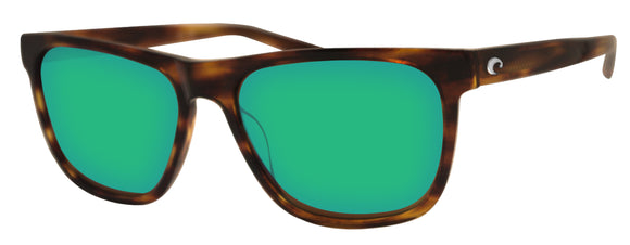 Costa Del Mar Apalach Shiny Tortoise Green Mirror 580 Glass Polarized Lens