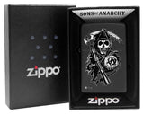 Zippo 28504 Sons of Anarchy Grim Reaper Black Matte Lighter