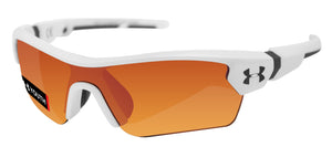 Under Armour 8600095-110941 menace youth white charcoal frame gray orange lens
