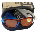 Costa Del Mar Cheeca Shiny Rose Tortoise Copper 580 Plastic Polarized Lens