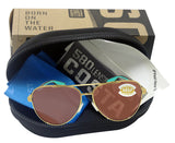 Costa Del Mar Peli Brushed Gold Frame Copper 580 Plastic Polarized Lens