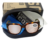 Costa Del Mar Waterwoman Shiny Palm Tortoise Copper Silver Mirror 580 Glass Lens