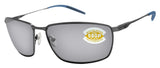 Costa Del Mar Turret dark gunmetal gray silver mirror 580 plastic lens