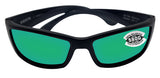 Costa Del Mar Corbina Matte Black Frame Green Mirror 580G Glass Polarized Lens