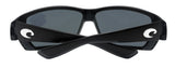 Costa Del Mar Tuna Alley Matte Black Frame Gray 580P Plastic Polarized Lens