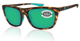 Costa Del Mar Cheeca Matte Shadow Tortoise Green Mirror 580 Glass Polarized Lens