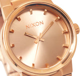 Nixon A160897 Cannon All Rose Gold Analog Steel Bracelet Watch New A160-897