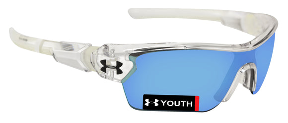 Under Armour 8600095-141461 menace youth crystal clear frosted gray blue lens