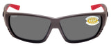 Costa Del Mar Tuna Alley Race Gray Frame Gray 580P Plastic Polarized Lens