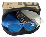 Costa Del Mar Canaveral Palladium Frame Blue Mirror 580G Glass Polarized Lens