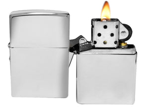 Zippo 250 High Polish Chrome Lighter Lighter