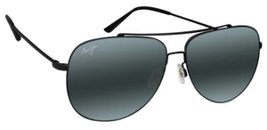 Maui Jim 789-2M Cinder Cone Black Matte Frame Neutral Grey Lens  NEW