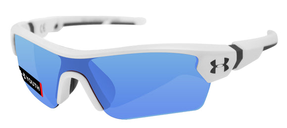 Under Armour menace  white charcoal frame gray blue lens 8600095-110961 youth