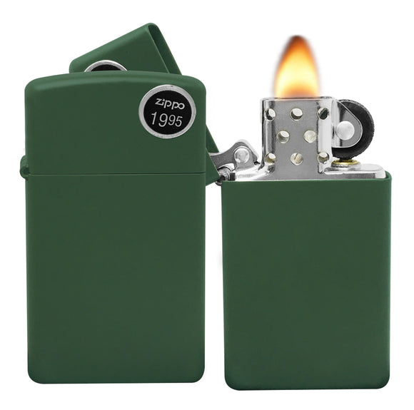 Zippo Lighter 1627 Slim Green New in Box matte finish