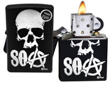 Zippo Lighter 29891 SOA Sons of Anarchy Black Matte Finish Windproof Brand New