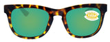 Costa Del Mar Copra Tortoise Black Green Mirror 580P Plastic Polarized Lens