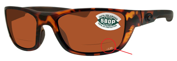 Costa Del Mar Whitetip Readers c-mate 2.00 tortoise copper plastic lens