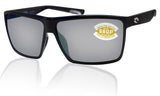 Costa Del Mar Rincon Black Frame Gray Silver Mirror 580P Plastic Polarized Lens