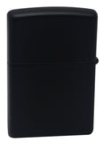 Zippo 29106 Shiny Flame Sparkling Emblem Attached Black Matte Pocket Lighter New