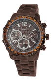 Guess U0016L4 Dazzling Sport Brown Chrono Date Dial Steel Women Watch NEW