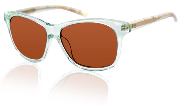 Costa Del Mar Sarasota Seafoam Crystal Shell Copper 580G Glass Polarized Lens
