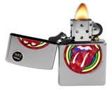 Zippo Lighter 29873 Rolling Stones Tongue Lip Street Chrome Finish Windproof New