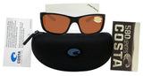 Costa Del Mar Tasman Sea Shiny Black Frame Copper 580P Plastic Polarized Lens