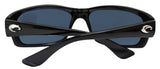 Costa Del Mar Jose Shiny Black Frame Gray 580P Plastic Polarized Lens