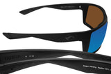Costa Del Mar Reefton Blackout Frame Blue Mirror 580G Glass Polarized Lens