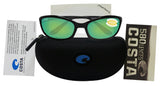 Costa Del Mar Harpoon Shiny Black Frame Green Mirror 580P Plastic Polarized Lens