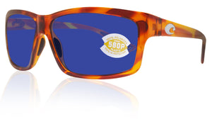 Costa Del Mar Cut Honey Tortoise Frame Blue Mirror 580P Plastic Polarized Lens