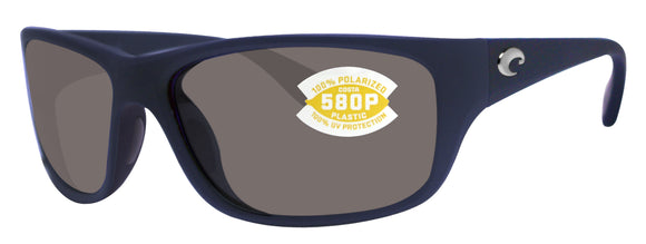 Costa Del Mar Tasman Sea Matte Blue Frame Gray 580P Plastic Polarized Lens