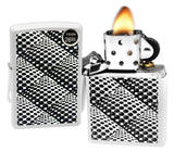 Zippo 29416 Dots and Boxes Pattern White Matte Finish Windproof Pocket Lighter