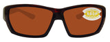 Costa Del Mar Tuna Alley Tortoise Frame Copper 580P Plastic Polarized Lens