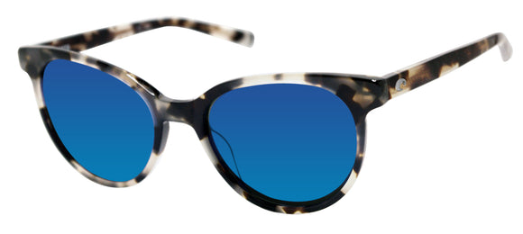 Costa Del Mar Isla Shiny Tiger Cowrie Blue Mirror 580 Glass Polarized Lens