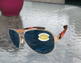 Costa Del Mar South Point Rose Gold Light Tortoise Gray 580 Plastic Polarized