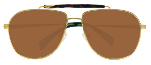 Toms Booker 10005452 Satin Gold Green Brown Mirror 58 mm Lens Sunglasses NEW