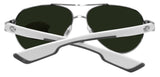 Costa Del Mar Loreto Palladium Silver White Blue Mirror 580G Glass Polarized Lens