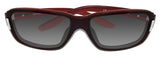 Polarone P1-4002 C4 Burgundy Frame Gray Gradient Polarized Lens Sunglasses New