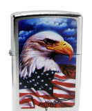 Zippo 24764 Mazzi Freedom Americana Street Chrome Windproof Lighter