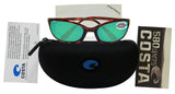 Costa Del Mar Harpoon Tortoise Frame Green Mirror 580G Glass Polarized Lens