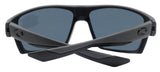 Costa Del Mar Bloke Gray Matte Black Frame Gray 580P Plastic Polarized Lens