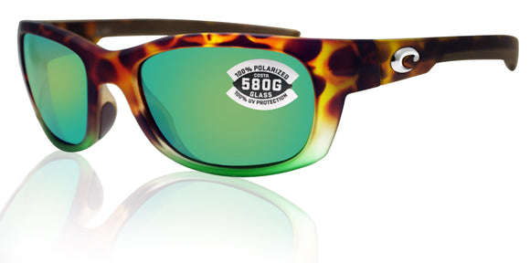 Costa Del Mar Trevally Tortuga Fade Frame Green Mirror 580G Glass Polarized Lens