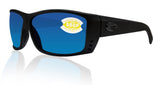 Costa Del Mar Cat Cay Blackout Frame Blue Mirror 580P Plastic Polarized Lens