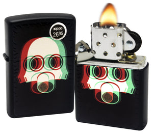 Zippo 29417 Nuclear Gas Mask 3D Black Matte Finish Lighter