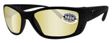 Costa Del Mar Fisch Blackout Frame Sunrise Silver Mirror 580G Glass Lens