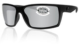 Costa Del Mar Reefton Blackout Gray Silver Mirror 580G Glass Polarized Lens New