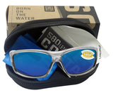 Costa Del Mar Saltbreak Silver Frame Blue Mirror 580P Plastic Polarized Lens
